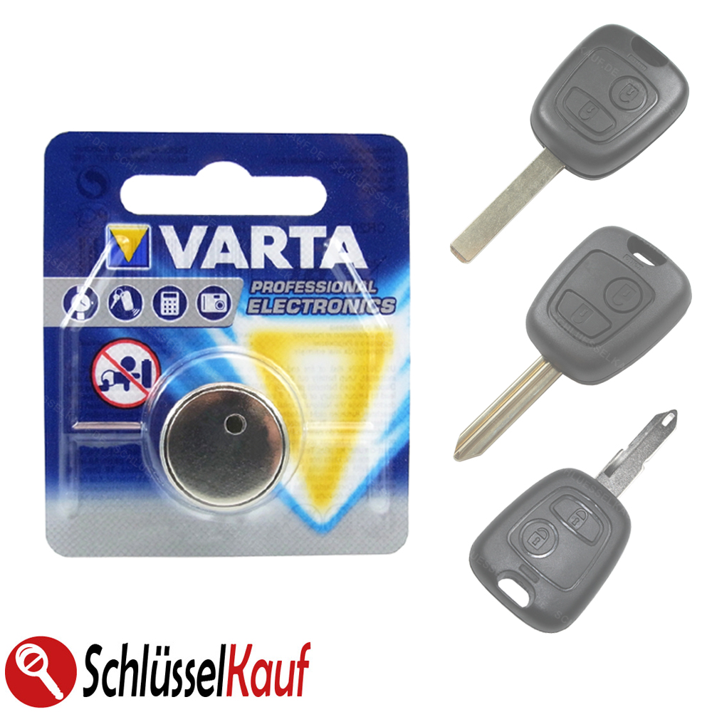 varta autoschl ssel batterie f r peugeot 107 206 207 307 citroen c1 c2 c3 c4 neu ebay. Black Bedroom Furniture Sets. Home Design Ideas